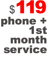$119 phone + 1st month service